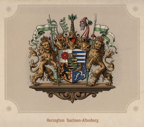 Wappenabbild des Herzogtums Sachsen-Altenburg / Quelle: LATh - StA Altenburg, Bildersammlung, Nr. 4787.